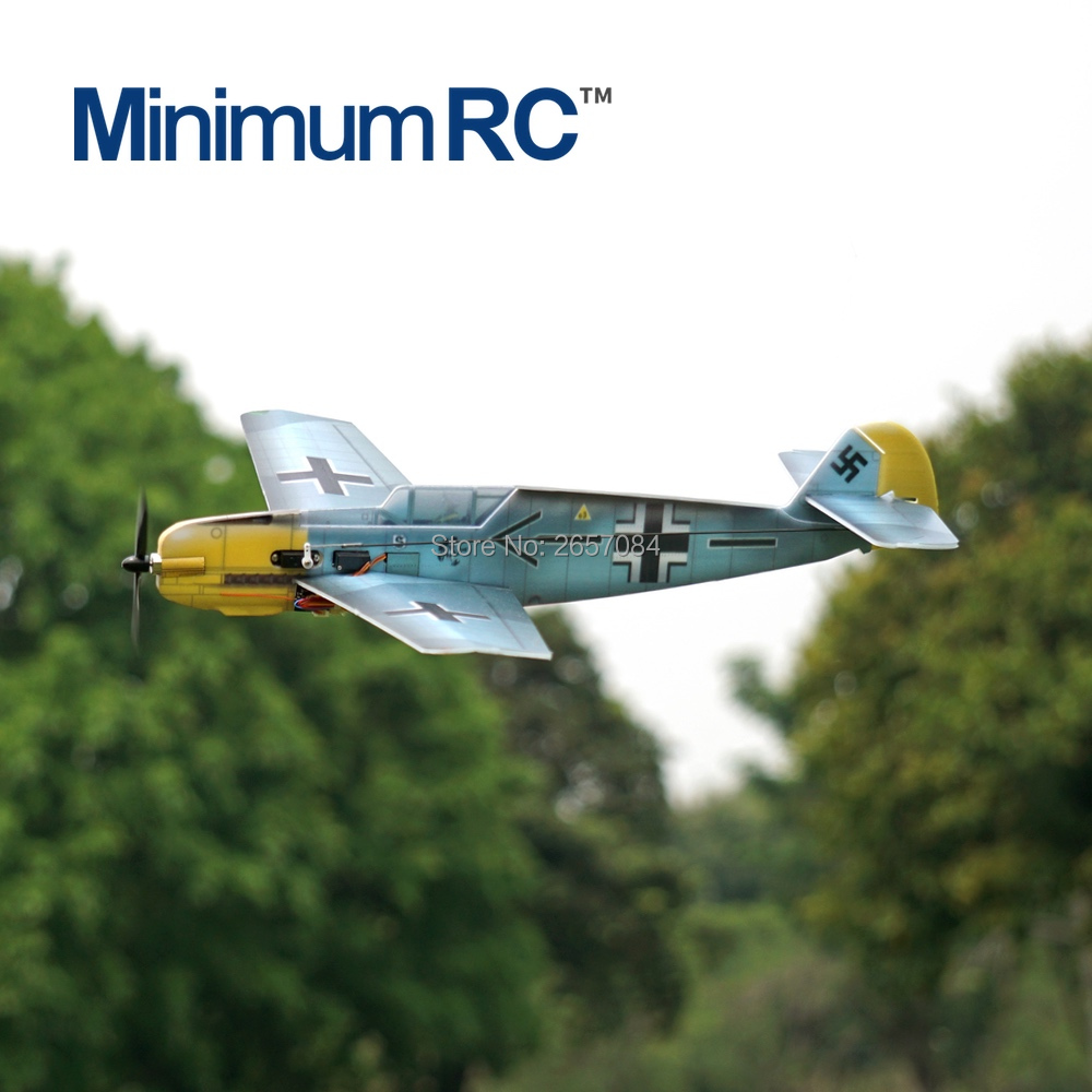 MinimumRC BF109 360mm Wingspan 4 Channel Trainer Fixed-wing RC Airplane Outdoor Toys For Children Kids Gifts image
