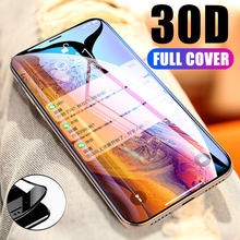 30D Full Coverage Cover Tempered Glass For iPhone SE 2020 7 8 6s 6 Plus X XS 11 Pro Max XR Soft edge Screen membrane Glass Film