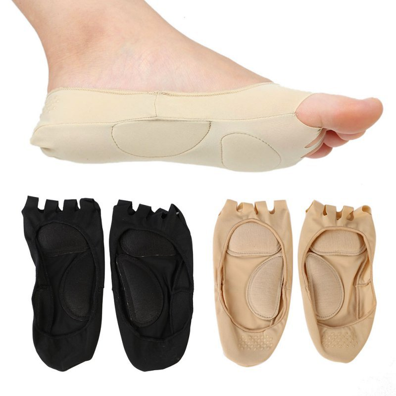 1 Pair Unisex Five Fingers Open Toe Soft Socks Mens Ankle Socks For Men Women Anklet Grip Gym Yoga