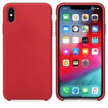 Oryginalny oficjalny silikon etui na Apple iphone X Xs MAX XR przypadku iphone 11 Pro case dla Apple iphone 7 7 Plus 8 8 Plus przypadku