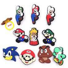 1PCS Cute Yoshi Goomba Super Mario Icon Lovely Jewelry Finger Rings PVC Cartoon Animal Party Gift Cosplay Accessories decoration(China)