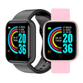 IP67 Wasserdichte Y68 Smart Uhr Fitness Tracker Heart Rate Monitor Blutdruck Bluetooth D20 Smartwatch Für IOS Android