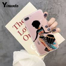 Cartoon South Africa Woman Map 2018 Colored Drawing Phone Case For IPhone 8 7 6 6S Plus X XS MAX 5 5S SE XR 11 Pro Max(China)