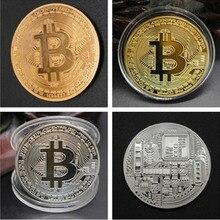 1 шт. позолоченная монета Биткоин коллекционное искусство коллекционный подарок физическая памятная монета Casascius BTC металлическая Античная...