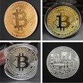 1 stücke Gold Überzogen Bitcoin Münze Sammeln Kunst Sammlung Geschenk Physikalische gedenk Casascius Bit BTC Metall Antike Nachahmung