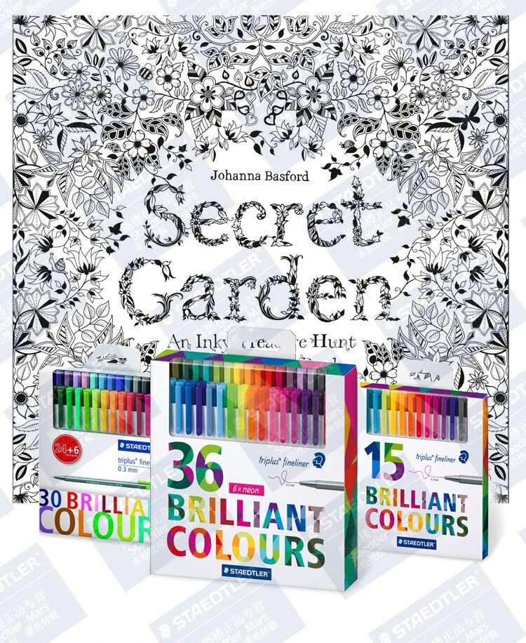 STAEDTLER 334 Triplus Fineliner Pens Brilliant Colors Fine Line Pen Art Marker Pens 15/20/30/36/42/48 Colors 0.3mm For Painting