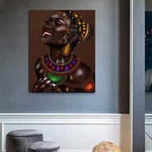 Quadros de parede quadros em tela arte africana retrato poster impressão fotos para sala estar decoracion hogar moderno