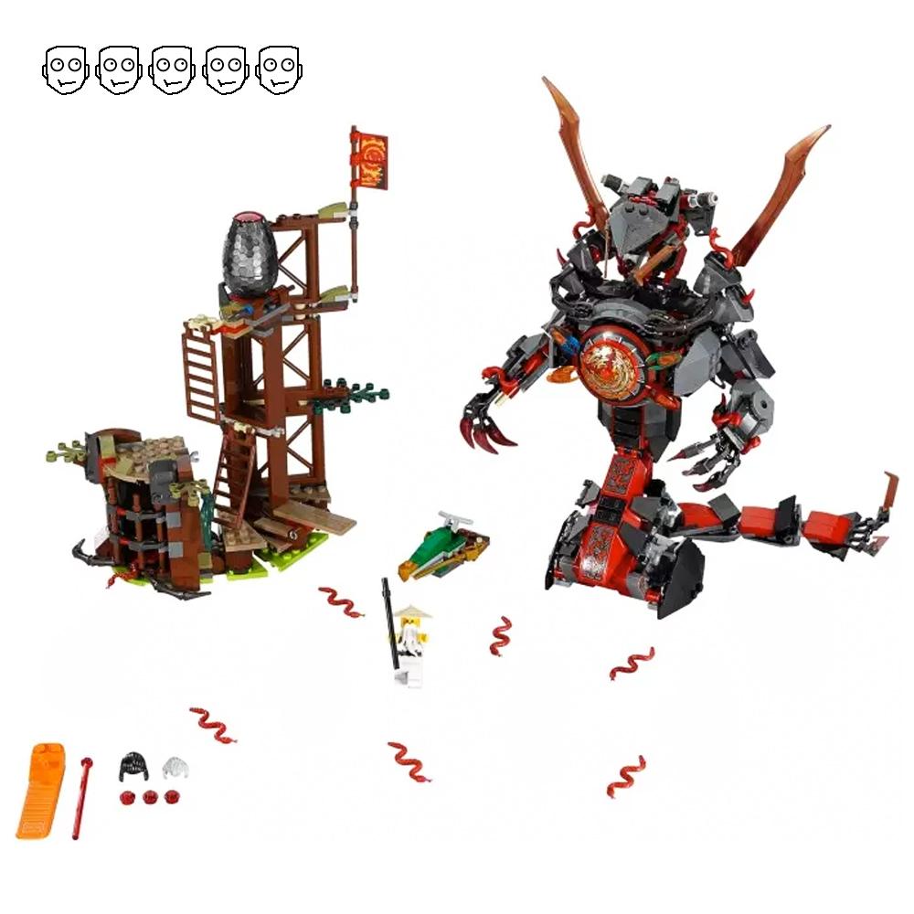 Bela 10583 Fit Ninjagoes <font><b>70626</b></font> 734pcs Ninjagoes Dawn Of Iron Doom Set Mini Figures Building Blocks toys for children Gift image