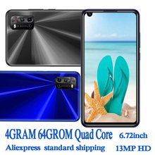 6.72inch Global A2 Smartphones 4G RAM+64G ROM Quad Core 8MP+13MP Front/Back Camera Android 6.0 Mobile Phones Celuares Unlocked