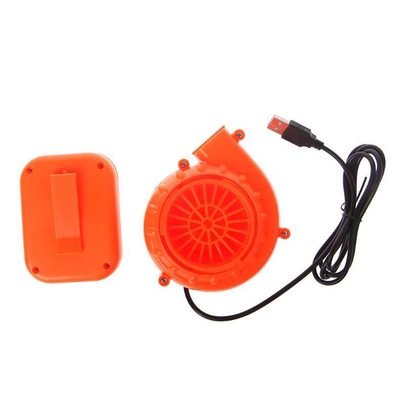 Mini ventilador eléctrico soplador de aire para juguete inflable disfraz muñeca con batería USB