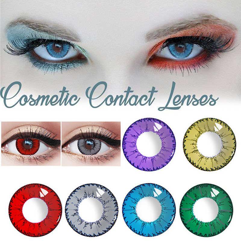 Myopia soczewki kontaktowe piękny uczeń stopień proszek 0-800 Cosplay oko kolorowe na Halloween DIY studenci spersonalizowany makijaż