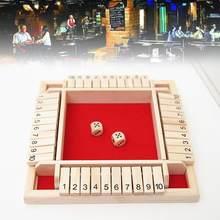 Kapat kutu tahtası oyunu zar seti Deluxe dört taraflı 10 sayılar kurulu oyunu parti kulübü İçme oyunları yetişkinler için aile