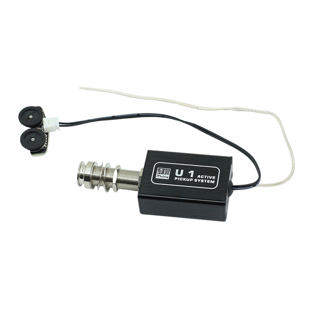 Capteur piézo-électrique actif de ramassage de guitare acoustique Rechargeable avec contrôle du Volume et de la tonalité pour ukulélé