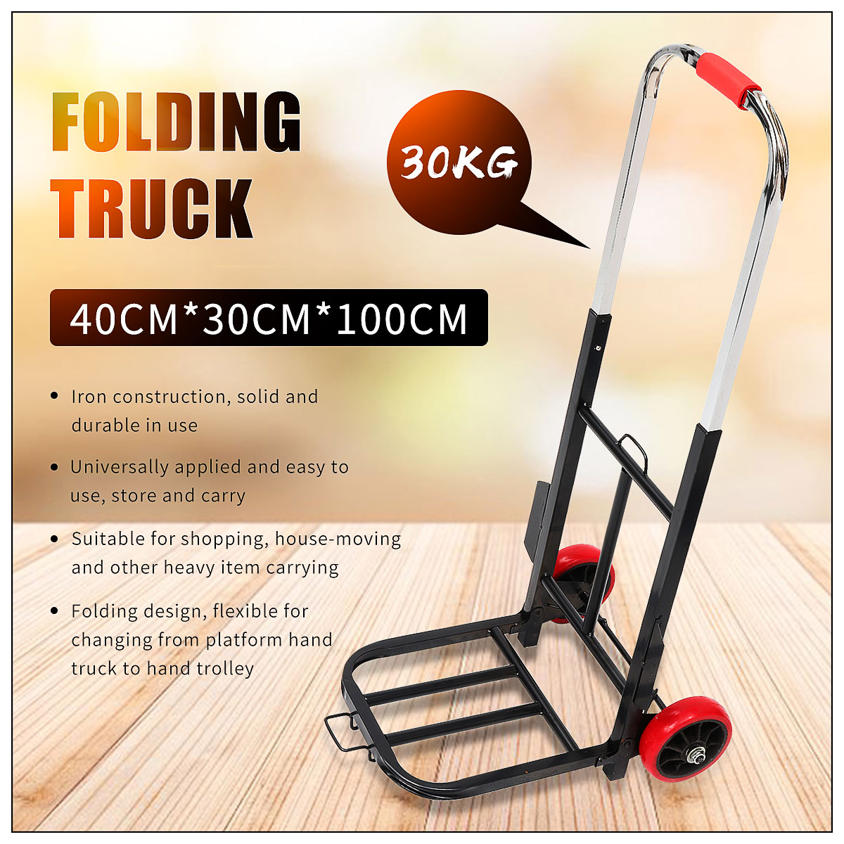 LBY Hand Cart Home Shopping Cart Folding Portable Trolley Aluminum Alloy Load King Trailer Handling Shopping Trolley Color : B, Size : No Bag