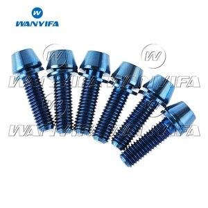 Image 5 - Wanyifa 6Pcs 티타늄 Ti M5 x 16 18 20mm Allen Hex 테이퍼 헤드 볼트 (자전거 스템 용 와셔 나사 포함)