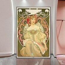 Fée Art Nouveau peintures célèbres par Alphonse Mucha toile Art affiches et impressions Mucha Art photos pour salon décoration murale