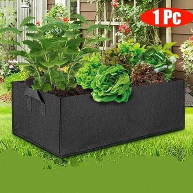 Saco plantio de vegetais em 1 peça, vaso quadrado para plantio de plantas, com alças, para jardim e jardim flor flor