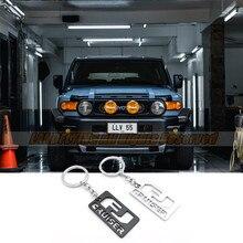 Metal aloly auto chaveiro para fj cruiser acessórios do carro porta-chaves titular para fora-estrada entusiasta