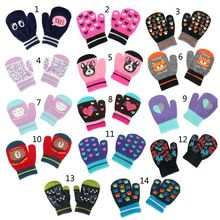 1 пара детских зимних теплых перчаток, детские варежки с защитой от царапин, перчатки для мальчиков и девочек