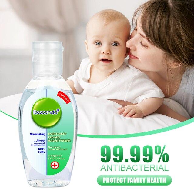 50ml Portable Anti-Bacteria Hand Sanitizer Gel No Clean Hand Gel Waterless Sanitizer Handgel Disposable for Kids Adult White Cap 1