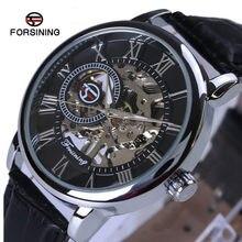 Часы мужские модные механические со стальным ремешком и кожаным