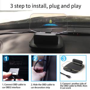 Image 3 - Mais novo gps automotivo display obd, display de carro com display hud, velocímetro c1, aviso de sobrevelocidade, obd2 + gps, modo duplo velocímetro, velocímetro