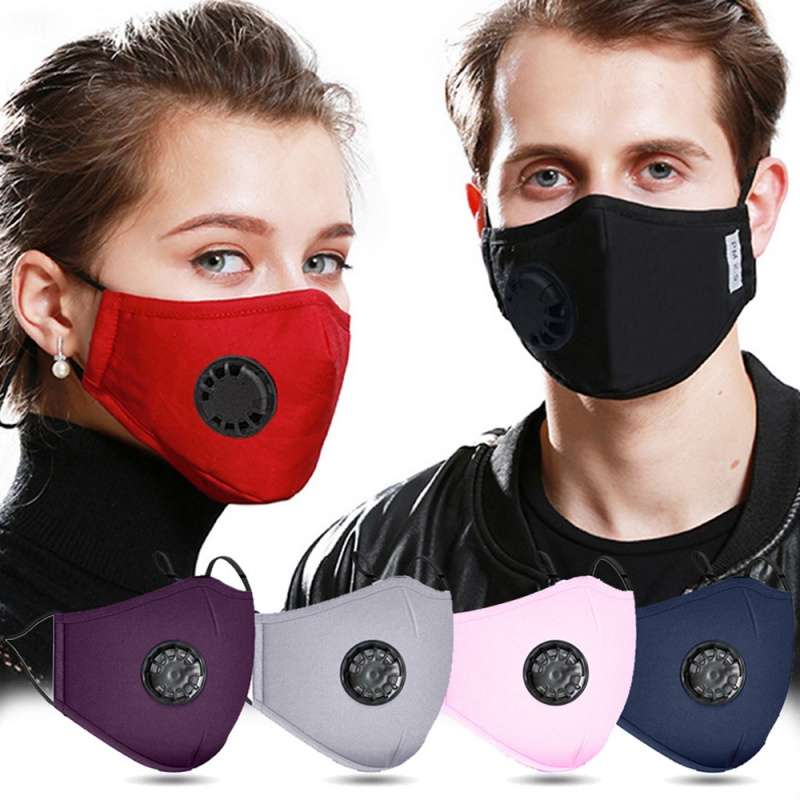 Reusable Dust-proof Masks Anti-Dust PM2.5 Breath Valve Facial Protective Cover Face Mask Activated Washable Cotton Mouth Mask