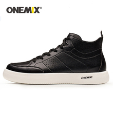 ONEMIX Classical Men Skateboard Shoes Oxfords Leather Lightweight Street Flats Sneakers For Women Walking Jogging Sports Shoes