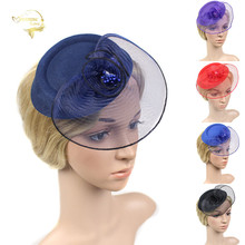 Hot Sale Ladies Wedding Hats Bridal Headwear Accessories for Woman and Fascinators Flowers Headdress