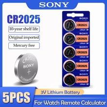 5 шт. Sony CR2025 CR 2025 DL2025 BR2025 KCR2025 3 В литиевая батарея для часов игрушек пульт дистанционного управления Измеритель кнопочные элементы батареи мо...