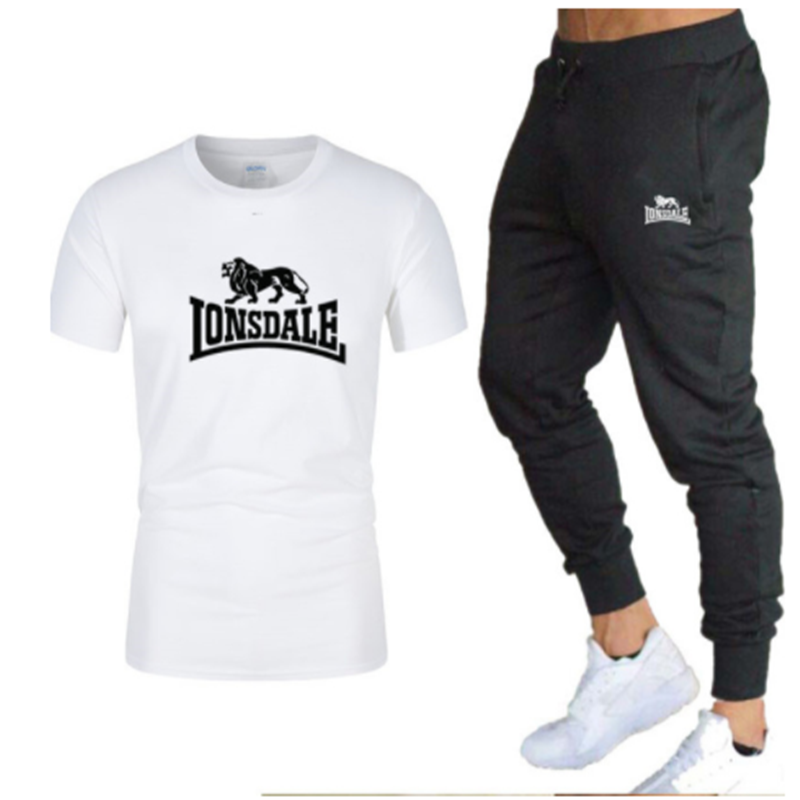 Offer! Men's T-shirt And Pants Sets Two-piece Sets Casual Basketball Tracksuit New Fashion Print Suits Sports Shirts