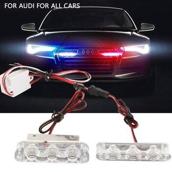 цена на 1/2Pcs 3 LED Strobe Light 6W Police Flashing Warning Led Brake Light Lamp DC 12V Car Truck Motorcycle Rear Brake Stop Led Lights