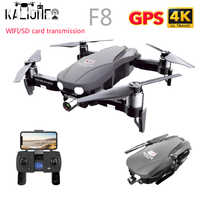 F8 GPS Drone 4K with Two-Axis Anti-Shake Gimbal Camera 5G WIFI FPV Quadrocopter RC Helicopter SD card profissional VS SG907 L109