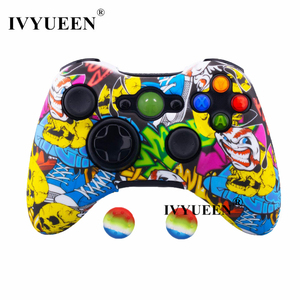 Image 3 - IVYUEEN Water Transfer Printing Protective Skin for Microsoft Xbox 360 Wired / Wireless Controller Silicone Case Cover Caps