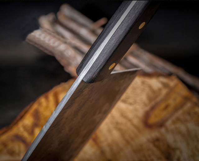Hand Made Forged Steel Serbian Chef Type Knife  3