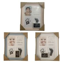 Baby Kids Birthday Gift Newborn Hand Foot Print Ornaments 12 Months Photo Frame