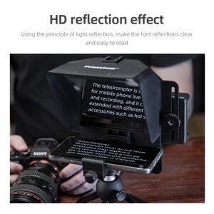 Image 5 - מיני טלפרומפטר נייד Inscriber נייד טלפרומפטר חפץ וידאו עם שלט רחוק עבור טלפון וdslr הקלטה
