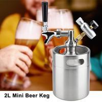 2L Mini Beer Keg Homebrew Keg Mini Air pressure Faucet Home Brewing Craft Beer Dispenser Home Beer Making Accessories set