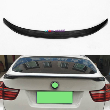 For BMW X6 E71 Spoiler 2008--2014 Year Rear Wing Mp Style Sport Body Kit Accessories Real Carbon Fiber image