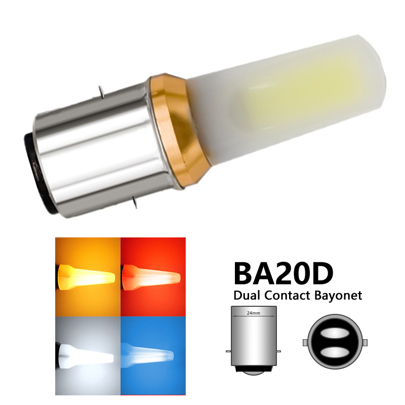 1x BA20D P15D Led Motorcycle Headlight Bulb H6 Ba20d H6M P15D LED Motorbike Light ATV Moto Motorbike Fog Lamp|  - title=