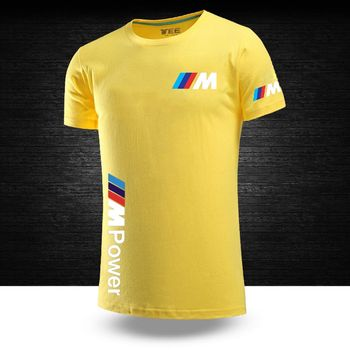 2020 Bmw M Power Summer Cotton Male Funny Tops Casual Short Sleeves Solid Color Unisex Round neck Hip Hop T shirts Sport Tops