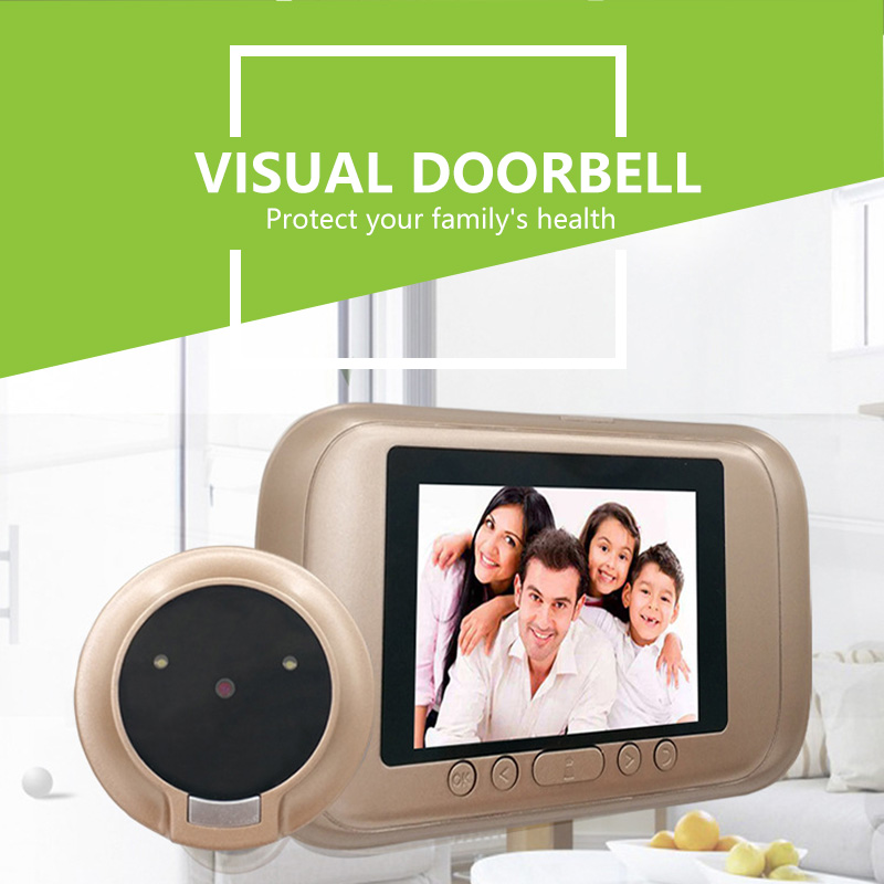 New Visual Smart Wireless Video Camera Intercom Door Bell Door With High-Definition Screen 720P HD Camera Low Energy Consumption
