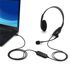 Image 5 - USB سماعة مع ميكروفون إلغاء الضوضاء الكمبيوتر سماعة الكمبيوتر خفيفة الوزن سماعات أذن بأسلاك للكمبيوتر/كمبيوتر محمول/ماك/مدرسة/أطفال