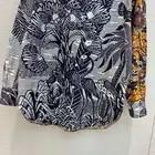 2019 Otoño e Invierno de las mujeres de alta calidad de moda elegante contraste Color Sketch impreso solapa camisa tamaño 36 38 40 - 3