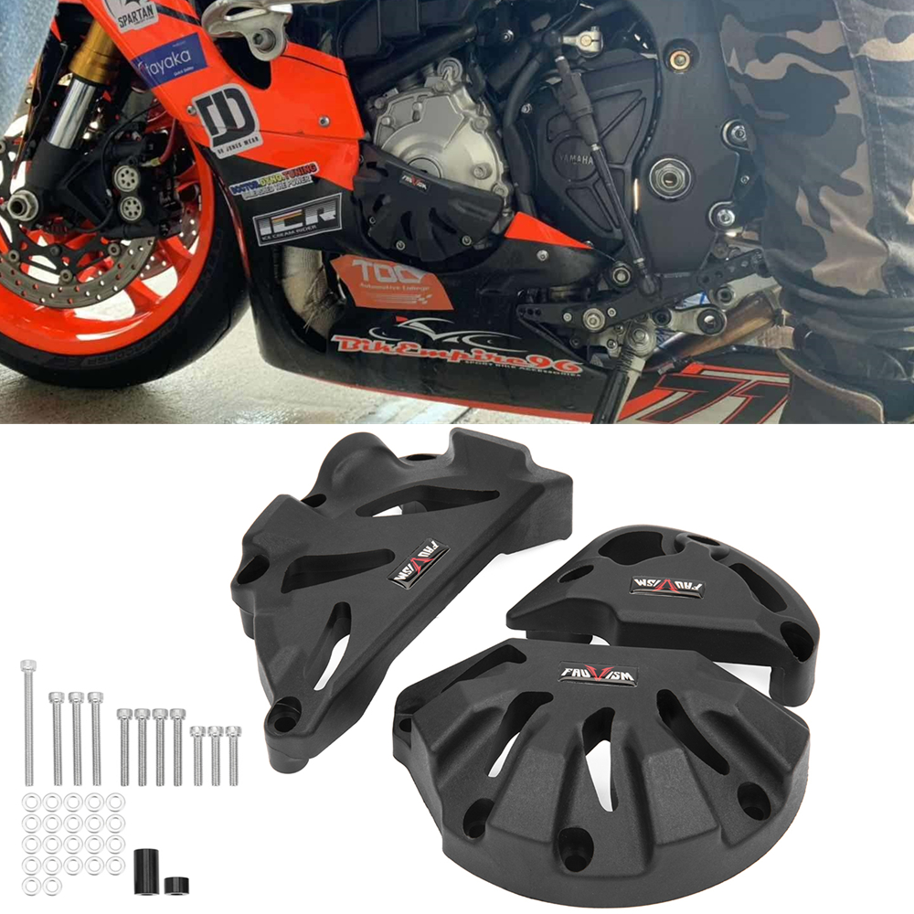 Motorcycle Engine Cover Protector Stator Case Guard Crash Frame Slider For Yamaha MT-10 MT10 <font><b>R1</b></font>/M 2015 2016 2017 2018 <font><b>2019</b></font> Black image