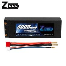 Zeee – batterie Lipo 2S, 7.4V, 100c, 6000mAh, avec prise Deans T, pour voiture RC, bateau, camion, Truggy, Buggy