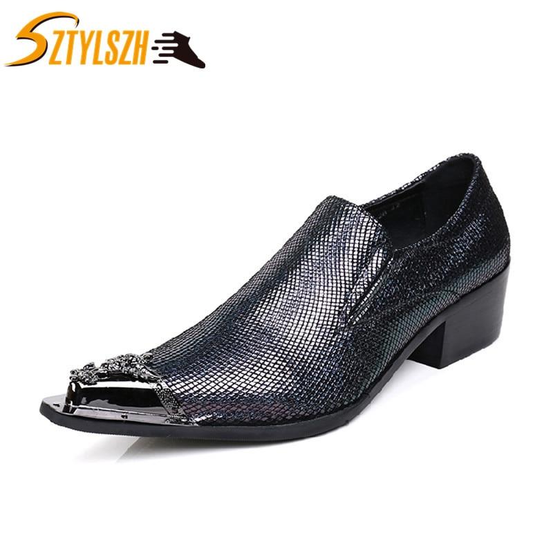Fashion Business Men Dress Shoes Fashion Man Genuine Leather Wedding Shoes Social Oxfords Casual Wedding Shoe Derby Shoes Zapato