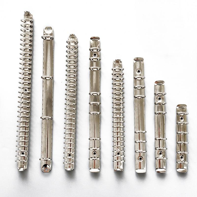 A4/A5/B5/A6/A7 Metal Spiral Binder Clip Loose-leaf Silver Binders Notebook File Folder Hoop Clips Album Scrapbook Binding Rings