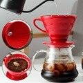 Керамический кофе капельница двигателя V60 стиль кофе капельного фильтра чашки Перманентный залить Кофе чайник с отдельной подставкой для ...