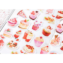 46PCS/Box Delicious Dessert Series Stickers Old Life Diary Planner Decorative Mobile Stickers Scrapbooking DIY Craft Stickers цена